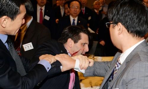 Knife attack in South Korea may crimp U.S. ambassador's friendly style