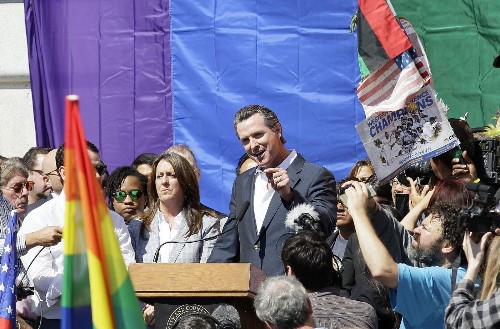 Gavin Newsom: 'Unbelievable' gay marriage decision, 11 years after his move - Los Angeles Times