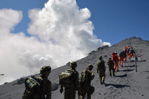 On Japan's Mt. Ontake volcano, a perfect day turns deadly for hikers