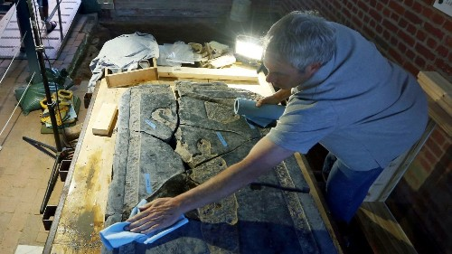 Saving a one-of-a-kind gravestone, a piece of an archaeological puzzle at historic Jamestown - Los Angeles Times