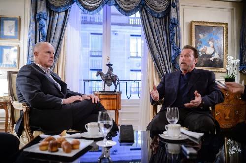 In Paris, Schwarzenegger and Brown unite to seek climate action - Los Angeles Times