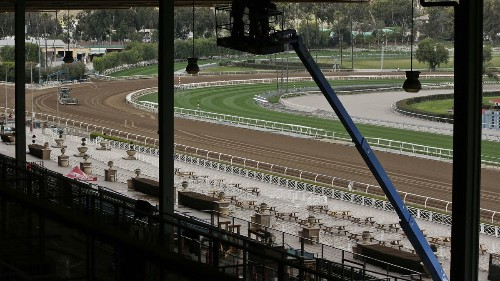 Santa Anita holds light training on dirt track for first time since 21st horse death