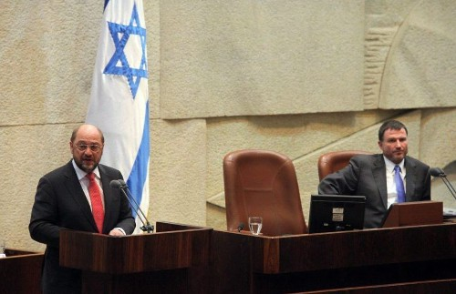 Israeli minister storms out during speech by EU Parliament president