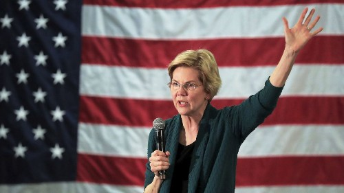 Warren supports a study on reparations and elimination of the electoral college