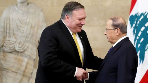 Pompeo denounces Iran in Lebanon, even as he meets with its proxies