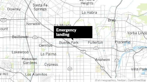 Small plane makes emergency landing on Buena Park street; no one is hurt