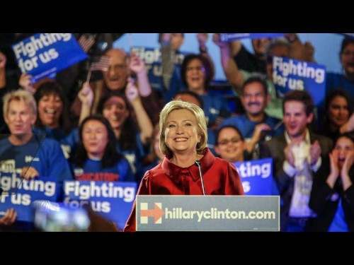 Victory in Nevada caucuses sets Hillary Clinton back on track for Democratic nomination - Los Angeles Times