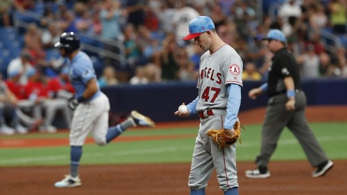 Angels' ninth-inning rally falls short in loss to Rays