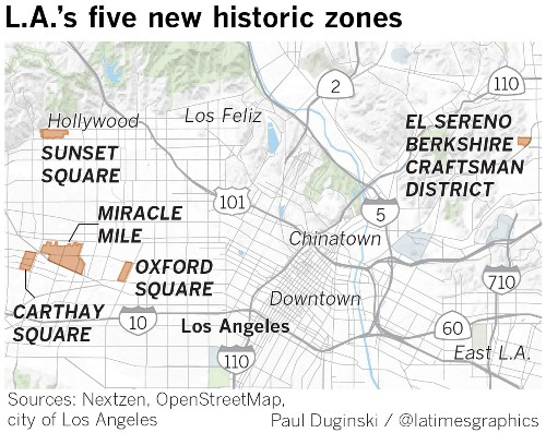 L.A.'s newest historic preservation zones embrace the past in myriad ways - Los Angeles Times