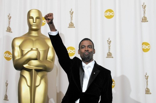 The Oscars: Host Chris Rock enters stage at race-aware moment