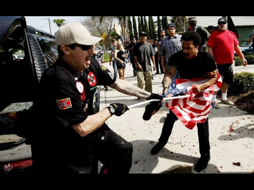 Anaheim protesters in Ku Klux Klan melee released from jail pending charges