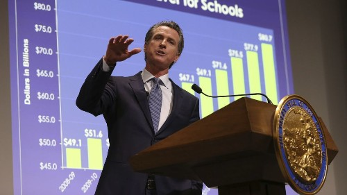 Newsom's struggles with dyslexia prompt a 'very personal' quest to fund early screening