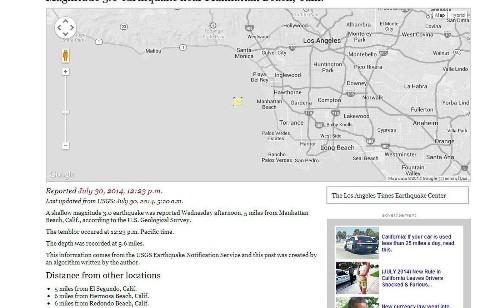 3.0 earthquake strikes Manhattan Beach area - Los Angeles Times