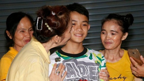 Thai boys, released from hospital, speak for first time since cave ordeal