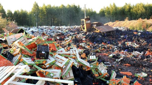Food fight in Russia as government bulldozes, burns illegal produce, meat imports