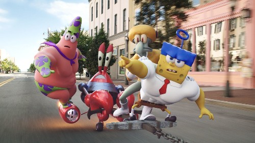 'SpongeBob' ventures ashore with mixed results - Los Angeles Times