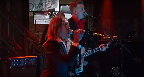 Watch Iggy Pop and Josh Homme debut 'Gardenia' on 'Colbert' - Los Angeles Times