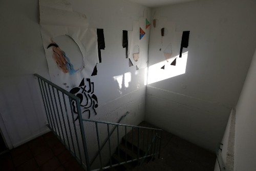 Apartment stairwell turned into public art gallery? See the latest show for yourself - Los Angeles Times