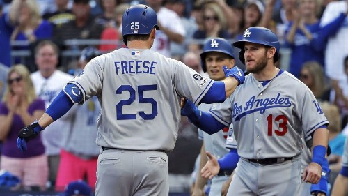 David Freese and Dodgers pulverize Pirates' opener in blowout win