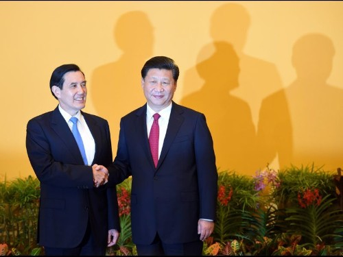 Historic handshake marks meeting of China and Taiwan presidents