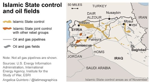How does Islamic State make money off oil fields in Syria and Iraq? - Los Angeles Times
