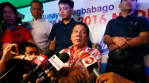 Philippine president-elect vows to restore the death penalty and offer Cabinet posts to rebels