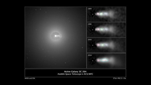 Hubble spots a high-speed collision in an extragalactic jet - Los Angeles Times