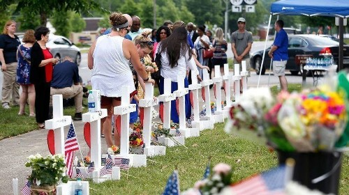 12 killed in a mass shooting is now Page 5 news