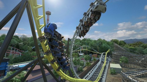 Six Flags Magic Mountain to add racing coaster with side-by-side tracks - Los Angeles Times