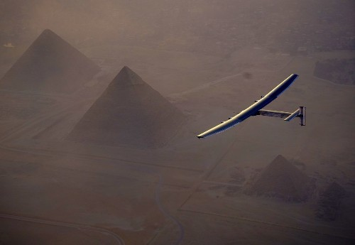 Solar-powered plane completes around-the-world journey