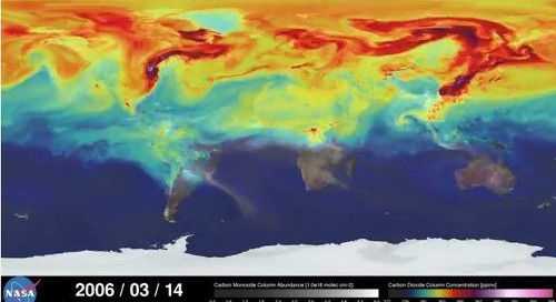 NASA's trippy video shows a year of C02 emissions in 3 minutes - Los Angeles Times