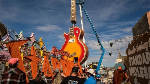 Hard Rock's iconic guitar sign finds a home at Vegas Neon Museum