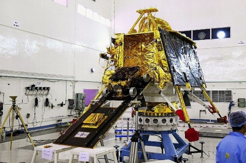 India scrubs historic moon mission less than an hour before liftoff