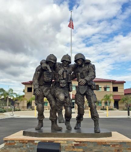 'No Man Left Behind' sculpture unveiled at Camp Pendleton