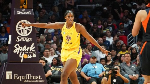 Kalani Brown is embracing her 'baby enforcer' role for the Sparks
