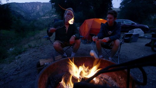 Postcard from L.A.: In the glow of a mountain campsite that's closer than you'd believe