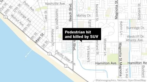 Pedestrian killed by SUV in Huntington Beach