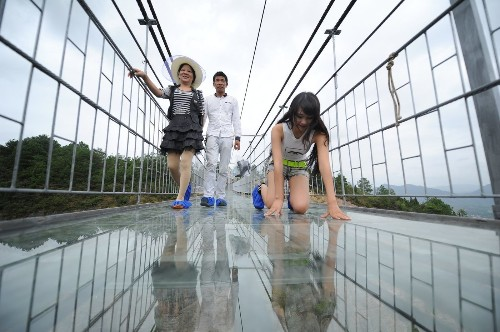 If seeing 'The Walk' makes you queasy, this glass bridge in China will terrify you