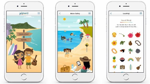 GoHawaii mobile app details secret places, safety tips and island emojis