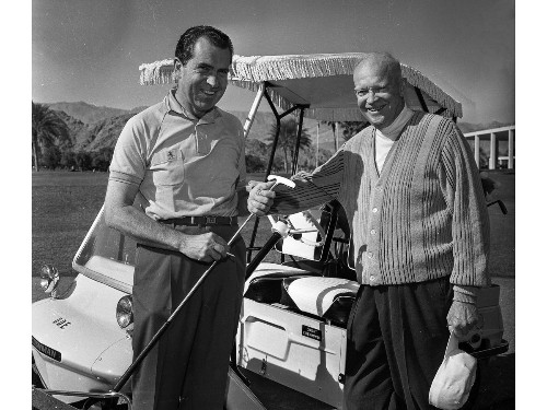 From the Archives: Nixon and Eisenhower go golfing