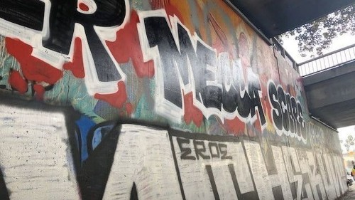 Metro says it painted over graffiti. It covered a historic L.A. mural in the process