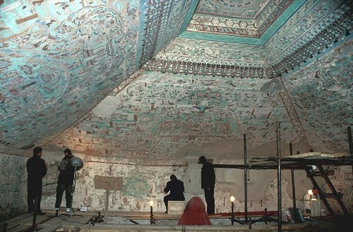 Getty to show exact replicas of art-filled Buddhist caves in China