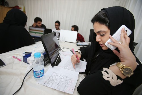 Saudi Arabia election features female candidates and voters for the first time