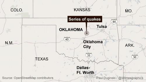 At least 4 earthquakes, including a 4.3, strike central Oklahoma