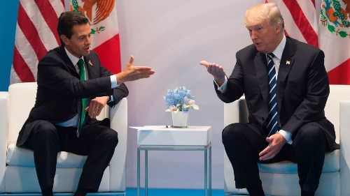 Trump, in meeting with Mexican president, again insists Mexico will pay for the wall
