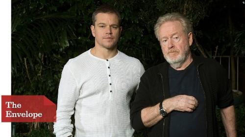 Matt Damon wasn't all alone as 'The Martian' — he had Ridley Scott close by - Los Angeles Times