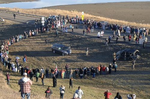 In North Dakota, it could become legal to hit a protester with your car