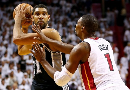 Spurs' Tim Duncan, a win away from fifth title, isn't talking end game - Los Angeles Times