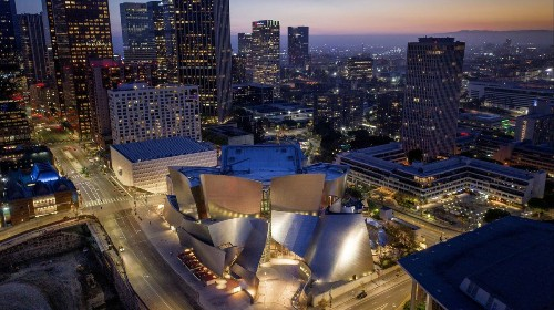 Welcome to downtown L.A.'s vibrant Grand Avenue, where the city of angels becomes the city of culture
