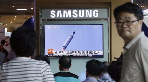 North Korea fires midrange missile into Sea of Japan